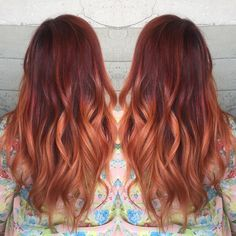 """""""Fire Melt... By Butterfly Loft stylist Leslie.  We broadcasted this on our Periscope today."""""""