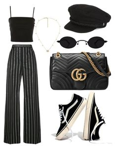 """Untitled #339"" by stoutjami ❤ liked on Polyvore featuring Balenciaga, Gucci, Madewell, Topshop and Lauren Ralph Lauren"