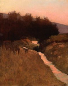 Creek by the Highway | March Bohne | oil on panel.