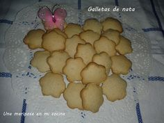Una mariposa en mi cocina: Galletas de nata