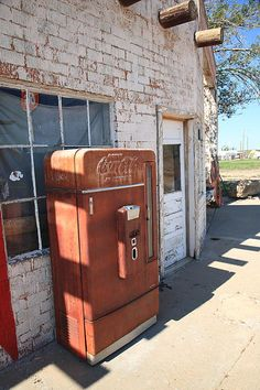 Route 66 - Rusty Coke Machine, Adrian, Texas