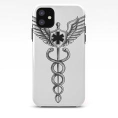 Caduceus Pilot Wings EMT Star Tattoo iPhone Case by patrimonio - iPhone 11 - Tough Case Iphone 11, Iphone Cases, Star Tattoos, Pilot, Wings, Stars, Stuff To Buy, Pilots, I Phone Cases