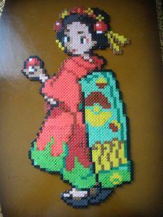 Perler Beads, Kimono Girl by ~DarkTangrowth on deviantART