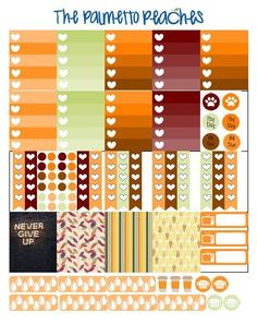 Free ECLP October/ Fall themed printable - Print your own planner stickers - The Palmetto Peaches - www.palmsinatl.com: