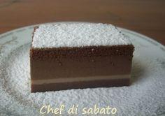 La torta magica al cacao è una delle varianti della torta magica alla vaniglia. Per me è ancora più magica in quando si è formata anche uno strato sottile e chiaro.