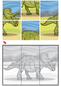 Triceratops Dinosaur Jigsaw Puzzle from Jigsaw puzzles. Great collection of jigsaws and math puzzles Dinosaur Worksheets, Shape Worksheets For Preschool, Dinosaur Puzzles, Preschool Activities, Jigsaw Puzzles For Kids, Printable Puzzles For Kids, Puzzle Games For Kids, Maths Puzzles, Free Jigsaw Puzzle Games