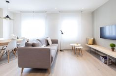 Reforma integral de un piso en Madrid Home Staging, Living Spaces, Living Room, Compact Living, Inspired Homes, Best Interior, Dining Bench, Sweet Home, The Originals