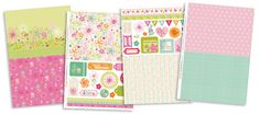 Spring Has Sprung patterned papers – free to download, use them in your handmade cards!