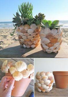 20 Unique Decor Ideas- Make Difference Using Diy Seashells - Top . 20 Unique Decor Ideas- Make Difference Using Diy Seashells - Top diy seashell crafts - # Seashell Art, Seashell Crafts, Beach Crafts, Diy Home Crafts, Garden Crafts, Decor Crafts, Seashell Decorations, Decor Diy, Diy Para A Casa