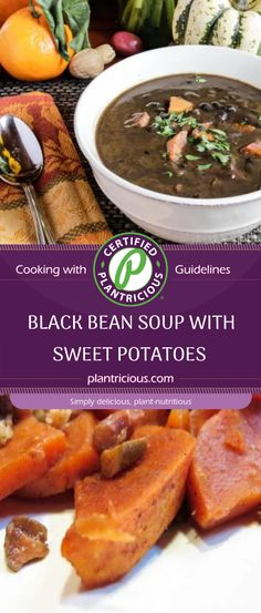 When it's cold and windy outside, there's nothing better than a piping hot bowl of soup. This black bean soup hits the spot and the addition of sweet potato take it over the top. You could feel proud serving this to company or your friends on game day. Black Bean Soup, Black Beans, Sweet Potato Soup, Bowl Of Soup, Potatoes, Pure Products, Recipes, Potato