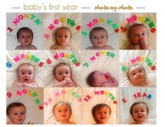 Baby's first year: Monthly photo collage