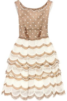 scalloped organza dress, marc jacobs