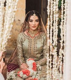 Zainab Reza setting the style quotient high and serving summer fashion goals in our bestseller piece from Ghuncha Gul. Asian Bridal Dresses, Bridal Mehndi Dresses, Nikkah Dress, Pakistani Wedding Outfits, Bridal Dress Design, Pakistani Wedding Dresses, Pakistani Dress Design, Bridal Outfits, Pakistani Wedding Photography