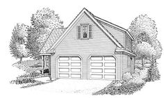 Traditional   Garage Plan 90359