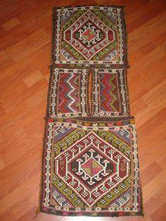 antique unique turkish cicim horse camel saddle bag kilim carpet hand made #Turkish