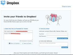 Dropbox Referral email