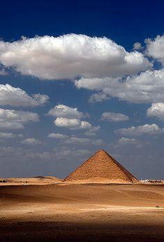 Red Pyramid, Dahshur, Egypt. The first true pyramid. Built by Pharaoh Sneferu