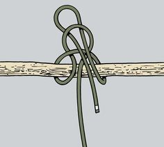 The #HighwaymansHitch is a great #knot for tying rope to an object you might need quick release from. #KnowYourKnots