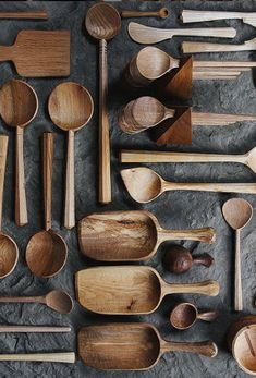 Every time we pick up a Hewn spoon, we can't help but feel for the knife's marks as it carved and admire its simple, functional beauty. Wood Projects, Woodworking Projects, Wood Carving Designs, Wood Spoon, Whittling, Wooden Kitchen, Wabi Sabi, Wood Design, Wood Turning