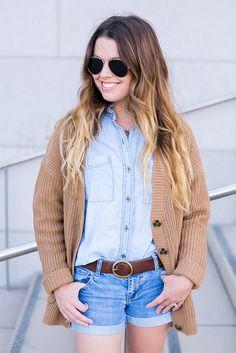 chambray shirt woven sweater waysify