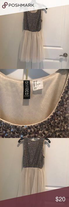 Divided H&M Dress Sparkly dress with tutu bottom. Divided Dresses
