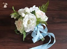 Boho White and Blush Bridesmaids Wedding Bouquet - Venue and reception decor (*Amazon Partner-Link)