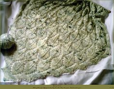 Ravelry: Leaf Pattern for Half-Square Shawl pattern by Cornelia Mee