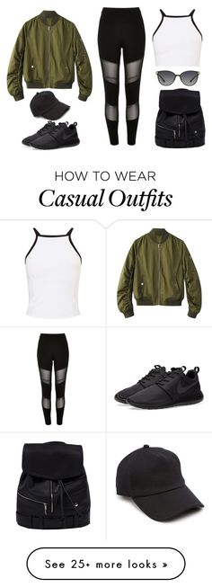 """Casual Morning"" by prudxncx on Polyvore featuring River Island, Miss Selfridge, Versace, NIKE and rag & bone"