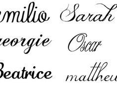 Custom Name Tattoo