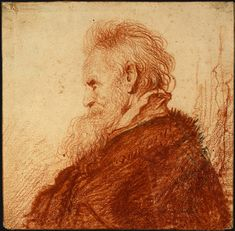 Head of an Old Man - Rembrandt