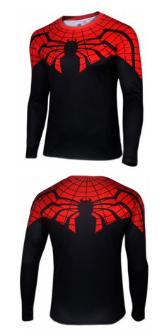 """BIO- Smart way to use his power!!"" Spider-man Cosplay Long Sleeve T-shirt. Discover more at G-LIKECLOTHES.COM."
