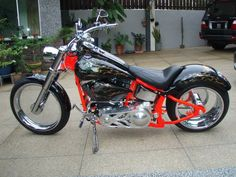 in Singapore with a complete set of Clear Wheels, even a Clear Pulley in  this H-D