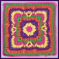 Festival of Fall Square Free Crochet Pattern