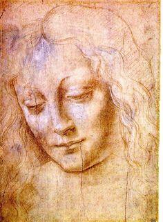 Head of a Young Woman by Leonardo da Vinci