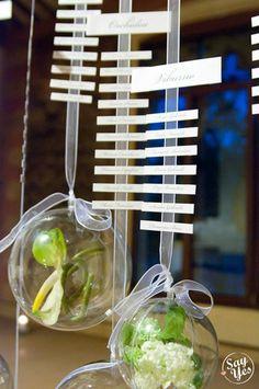 Seating plan. Tableau de mariage www.sayyesevents.it