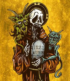 Day of the Dead Artist David Lozeau, Saint Anthony, David Lozeau Dia de los Muertos Art - 3