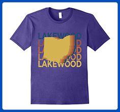 Mens dayton ohio t shirt retro repeat small purple retro for T shirt printing lakewood ohio