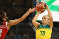 Erin Phillips Photos Photos - Erin Phillips Australia shoots during the Women's round Group A basketball match between Australia and Belarus on Day 7 of the Rio 2016 Olympic Games at the Youth Arena in Rio de Janeiro on August 13, 2016 in Rio de Janeiro, Brazil. - Basketball - Olympics: Day 8