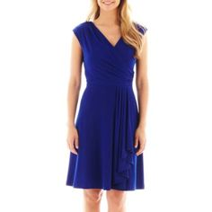 Alyx® Cap-Sleeve Side-Drape Dress   found at @JCPenney