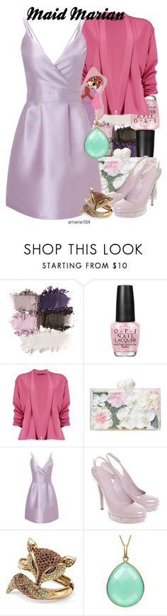 """Maid Marian"" by amarie104 ❤ liked on Polyvore featuring OPI, Boohoo, Disney, Ashlyn'd, Miss Selfridge, Gucci and Palm Beach Jewelry"