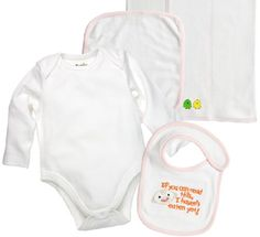 Funkoos 4piece Organic Cotton Baby Layette Set Baby Girl 03 months NewbornInfantBaby0  3 mon