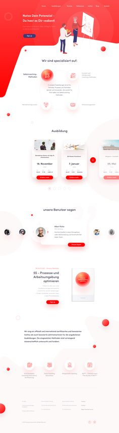 Training courses website by Damian Zaleski on Inspirationde Design Your Own Website, Website Design Layout, Homepage Design, Web Layout, Website Designs, Layout Design, Web Design Jobs, Ux Design, Design System