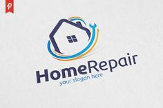 Home Repair Logo by on @Graphicsauthor