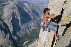 Dean Potter on Half Dome, Yosemite, photographer - Jimmy Chin