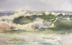 Waves by Request by Poppy Balser Watercolor ~ 7 x 10