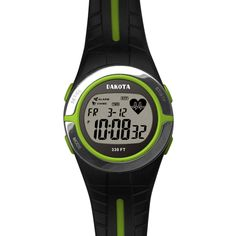 Dakota Watch Company Heart Rate Monitor Watch Lime