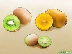 "How to Grow Kiwifruit. Kiwifruits, also known as simply ""kiwis,"" are a popular type of edible berry that grows on vines in temperate regions. While each vine can produce hundreds of pounds of fruit, it typically takes anywhere from three. Grow Kiwi From Seed, Hardy Kiwi, Kiwi Vine, Kiwi Berries, Plant Care, Images, Permaculture, Anna, Pictures"