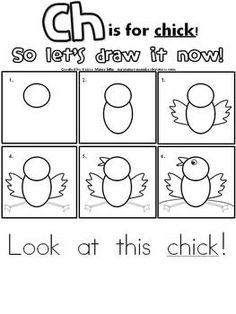 FREE Draw It Now Spring Chick Literacy Center-Easy to Prepare & Implement - Mrs. Miner's Monkey Business - TeachersPayTeachers.com
