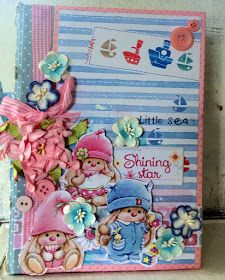 ScrapBerry's: Adorable scrapbook baby album made by Solange Marques  with the My Little Star collection.
