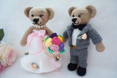 Married bear crochet pattern by suwannacraftshop on Etsy